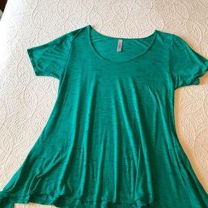 LuLaRoe Perfect T Tee Shirt Green/Black Sz Small